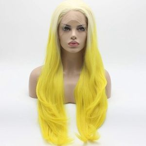 """💫24"""" YELLOW OMBRÉ  STRAIGHT LACE FRONT WIG💫 *NWT"""